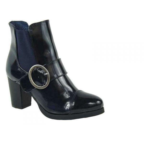 ventes bottines talon les p 39 tites bombes chantal navy nouvelle collection lpb shoes. Black Bedroom Furniture Sets. Home Design Ideas
