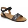 Sandale plate Eva Frutos 7190 Piton noir