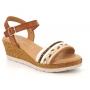 Sandale compensée Eva Frutos 8445 marron multi