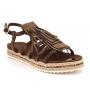 Elue Par Nous sandale Chosh marron, nu pieds strass