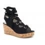 Les P'tites Bombes sandale compensée Jazz noire