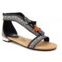 Elue Par Nous sandale ethnique Combret noir
