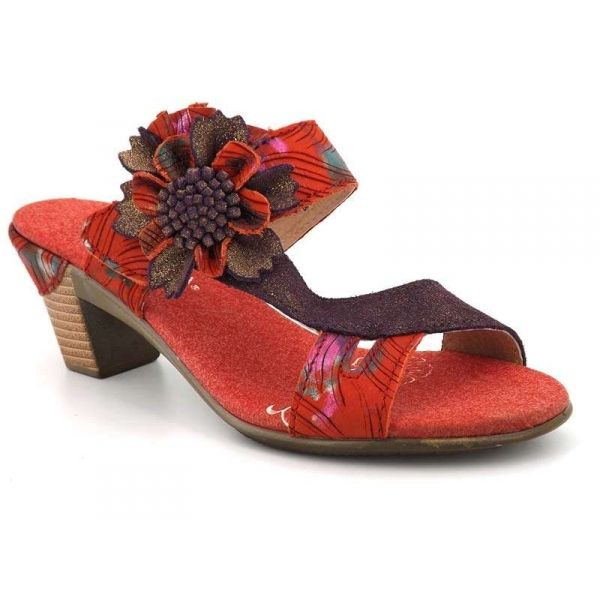 Laura Vita BETTINO 17 Rouge - Chaussures Sandale Femme