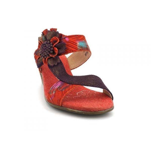 Chaussures à scratch Laura Vita orange femme Mam'Zelle Sandales OUEST Mam'Zelle soldes ahYDjx7