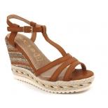 Sandale compensée Playa Cadia camel