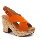 Sandales Kaola 425 Naranja, compensé confort pour femme