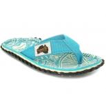 Tongs Gumbies Islander Turquoise Pattern pour femmes