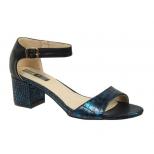 Sandale Elue par Nous Toeane aspect croco bleu