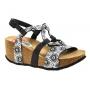 Chaussures ompensées bio, Désigual Anissa Alhambra noir