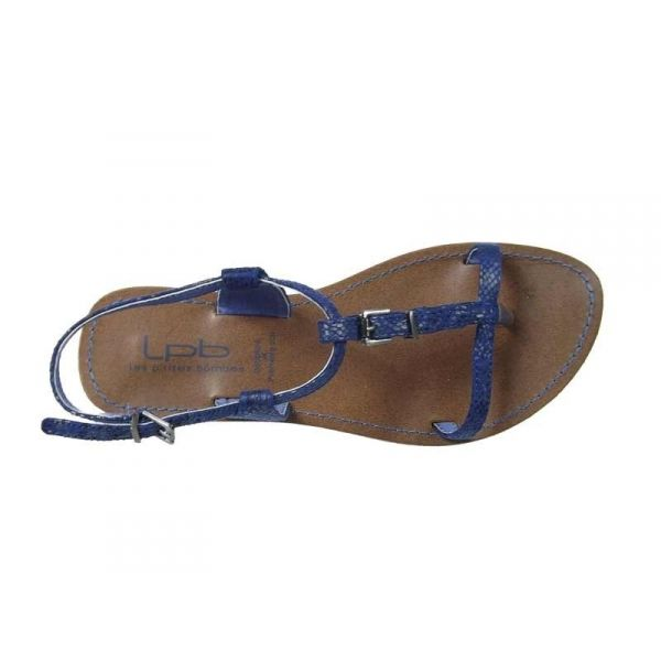 ventes sandales plates les p 39 tites bombes zho aspect serpent bleu. Black Bedroom Furniture Sets. Home Design Ideas