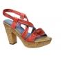 Di Que Si 6015 sandale confort cuir rouge