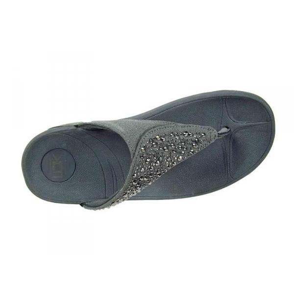 confortables tongs strass gris compensées Kélara Ventes EVA décor EqdZHE6n