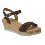 Eva Frutos sandale compensée 7402 marron