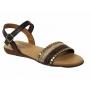 Nu pieds cuir Eva frutos 7191-1 marron multi