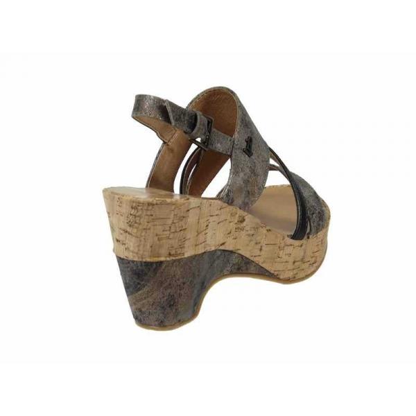 Sandales, nu-pieds Les P'tites Bombes Compensé Juliette F Taupe