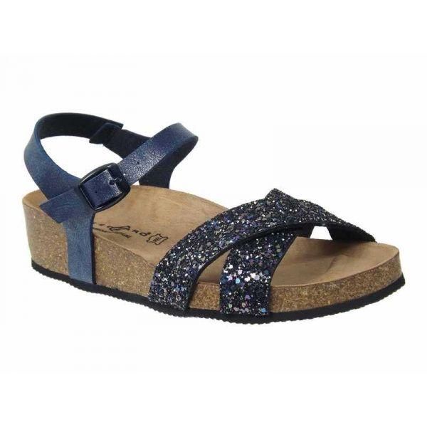 Pieds Confortable Sandale Nu Ventes Paname Strass Bleu Femme Kedzaro qXxwTnH
